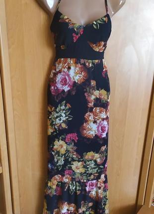 Нереальное платье цветочный принт