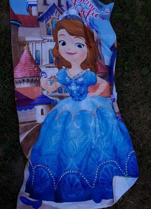 Яркое большое полотенце принцесса софи