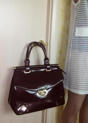 Большая лаковая сумка/сумка/клатч/сумочка/торба/мешок/рюкзак/чемодан