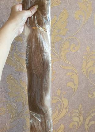 Волосы натуральные славянка хвост шиньен