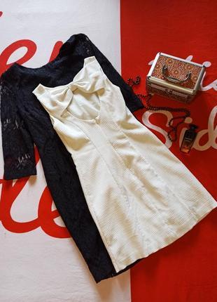 Вечернее текстурное платье миди с бантом с открытой спиной футляр miss selfridge