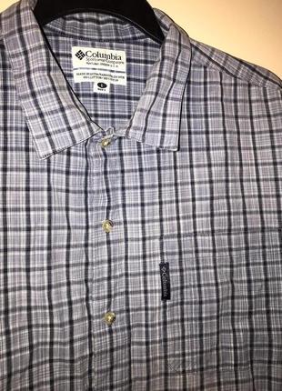 Рубашка в клетку на короткий рукав columbia