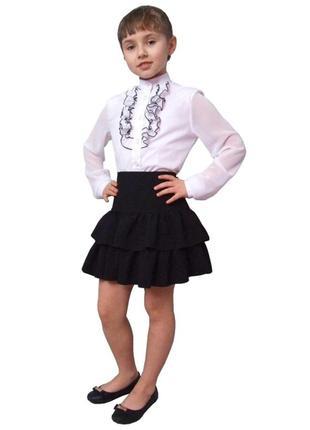 """Блузка детская для девочек школьная м-979 рост 128 152 158 164 и 170 тм """"попелюшка"""""""