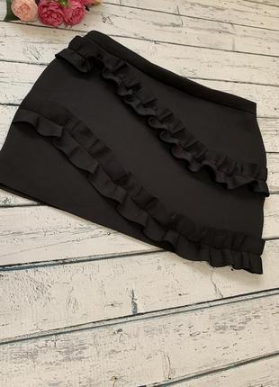 Неопреновая короткая юбка с рюшами asos большой размер