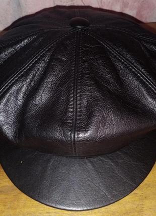 Кожаная кепка esco collection