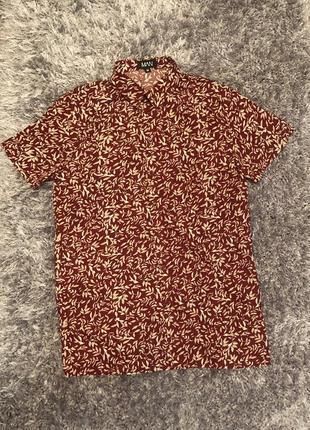 Рубашка с коротким рукавом гавайка