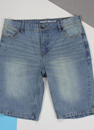 Четкие джинсовые шорты с эффектом пожелтения от pepco