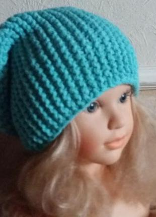 Новая вязаная шапка бинни ручной работы