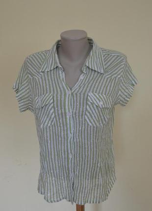 Легкая котоновая брендовая блузочка в полосочку