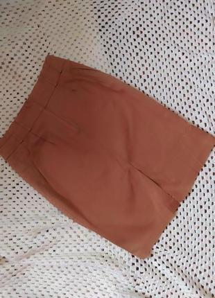 Нюдовая юбка с высокой талией