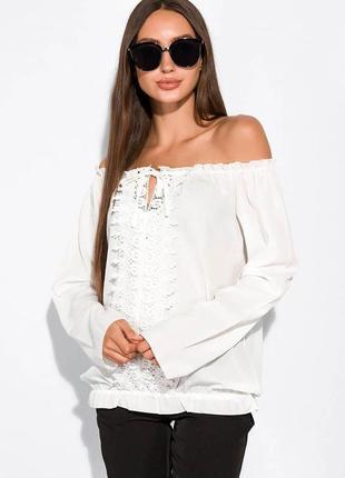 """Блуза """"анжелика"""" с длинными рукавами"""