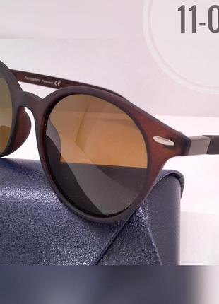 Солнцезащитные очки atmosfera кругляши матовая оправа коричневая линзы polarized