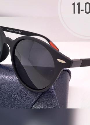 Солнцезащитные очки atmosfera кругляши матовая оправа черная линзы polarized
