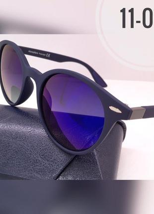Солнцезащитные очки atmosfera кругляши матовая оправа синие линзы polarized