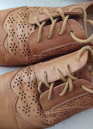 Легкие комфортные дышащие туфли оксфорды размер6/39 от f&f