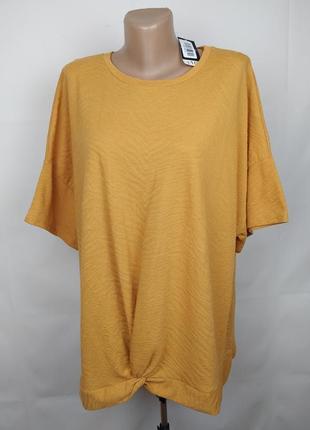 Блуза новая трикотажная красивая большого размера uk 24/52/5xl