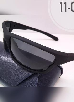 Солнцезащитные очки atmosfera спортивные черные матовые линзы polarized