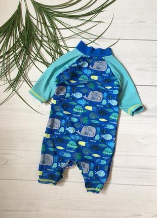 Синий плавательный костюм на 6-9 мес