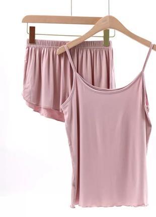 Пижама летняя домашний костюм майка и шорты
