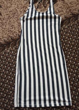 Платье в полоску летнее возможен обмен
