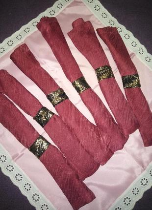 Набор салфеток 6 шт + подарок  розовая большая салфетка/ручная работа.