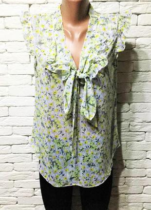 Красивая шифоновая блуза, с рюшами