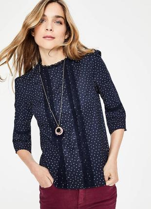 Шикарная блузочка в принт хлопок рубашка