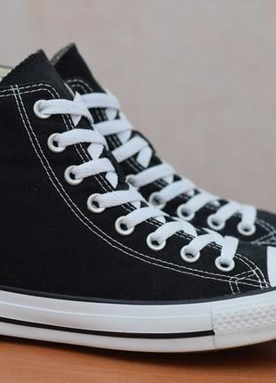 Черные высокие кеды, кроссовки converse all star, 40 размер. оригинал