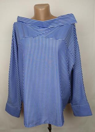 Блуза красивая в полоску большого размера new look uk 18/46/xxl