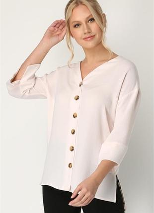Шикарная блузка в пудровом цвете