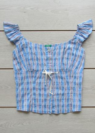 Майка блуза в клетку от united colors of benetton