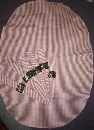 Маленькая овальная скатерть + 6 салфеток/ручная работа