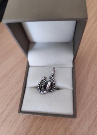 Скорпіон кулон підвіска подвеска скорпион серебро обмін обмен