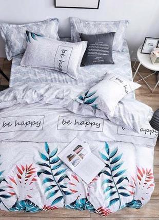 Постельное белье, постельное белье бязь, светлое постельное белье, постельно с листьями