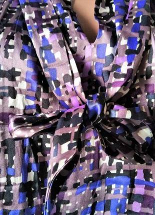 Блуза-сатиновий шовк з бантом   talking french