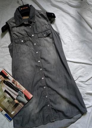 Платье рубашка, джинсовое платье, джинсовый сарафан