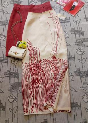 Стильная шикарная юбка с разрезом, mark aurel, размер s-m