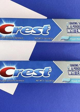 Сша зубная паста отбеливающая crest baking soda peroxide