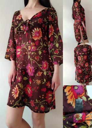 Шифоновая пляжная туника блуза