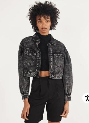 Cropped denim jacket join life/джинсовый укороченный  пиджак