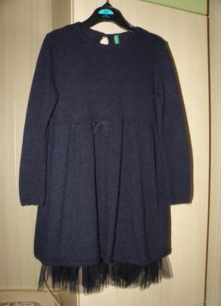 Элегантное теплое платьице benetton на маленькую леди
