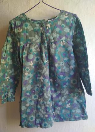 Летняя хлопковая блуза туника