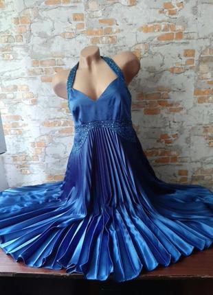 Шикарное эксклюзивное дизайнерское платье nicholas millington гофре плиссе