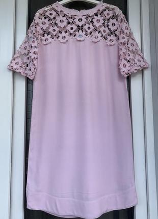 Sandro paris оригинал франция нежнейшее платье с кружевом размер хс