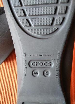 Фирменные балетки crocs на 39 р-р4 фото