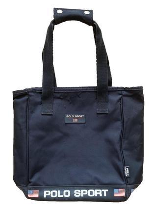 Винтажная сумка-клатч чёрная сумка-тоут polo ralph lauren оригинал