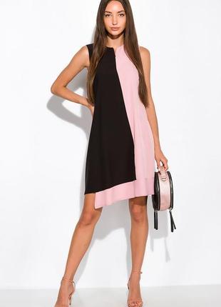 Платье с контрастной вставкой