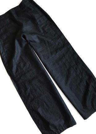 Чёрные льняные брюки sarah pacini gortz rundholz