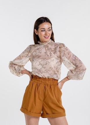 Новая роскошная шифоновая легкая блузка в актуальный принт