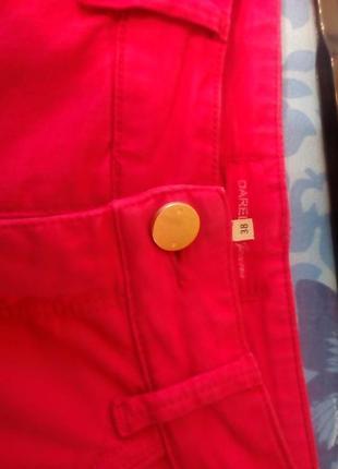 Потрясающие стильные яркие брючки от жерар дарель. r 38(m). цвет малиновый